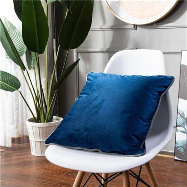 Smooth Style Lux Pillowcase Pillow 60x60cm / Indigo