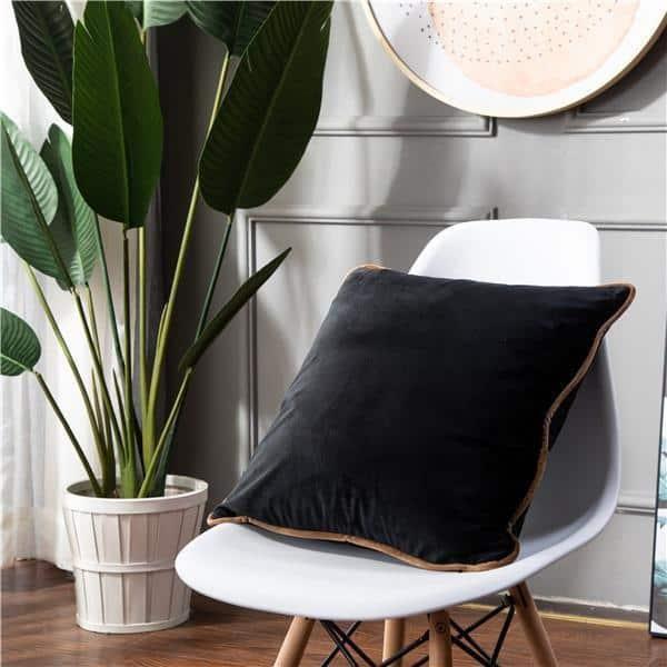 Smooth Style Lux Pillowcase Pillow 60x60cm / Black
