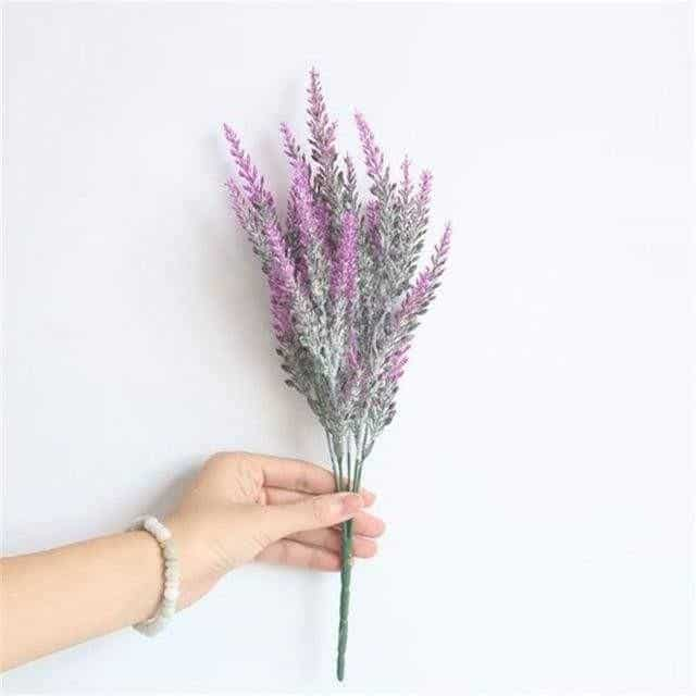 Flowers of Provence by Una Hubmann Artificial Flowers Purple Red