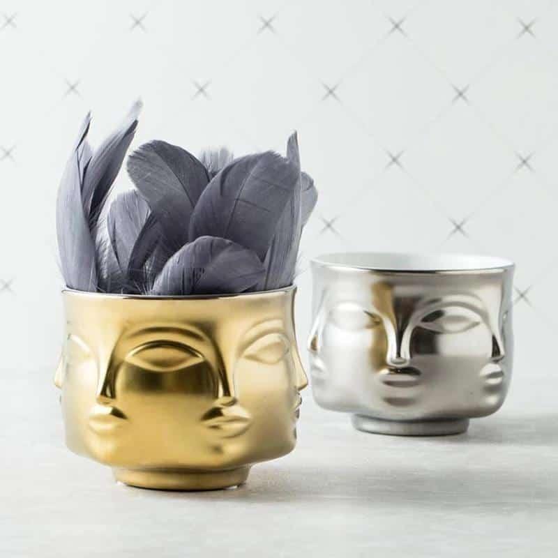 Rubin's Exploration Abstract Vase/Pot Vase
