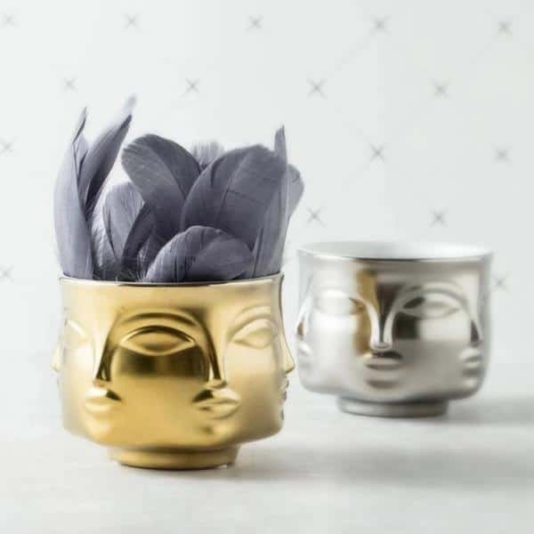 Rubin's Exploration Abstract Vase/Pot Vase Gold
