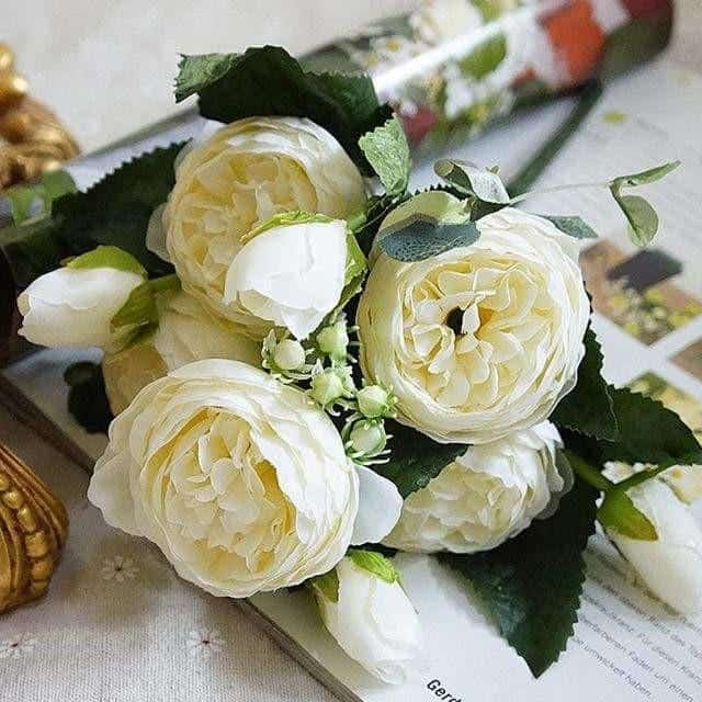 Rose Poems by Marie Davidsson Artificial Flowers White