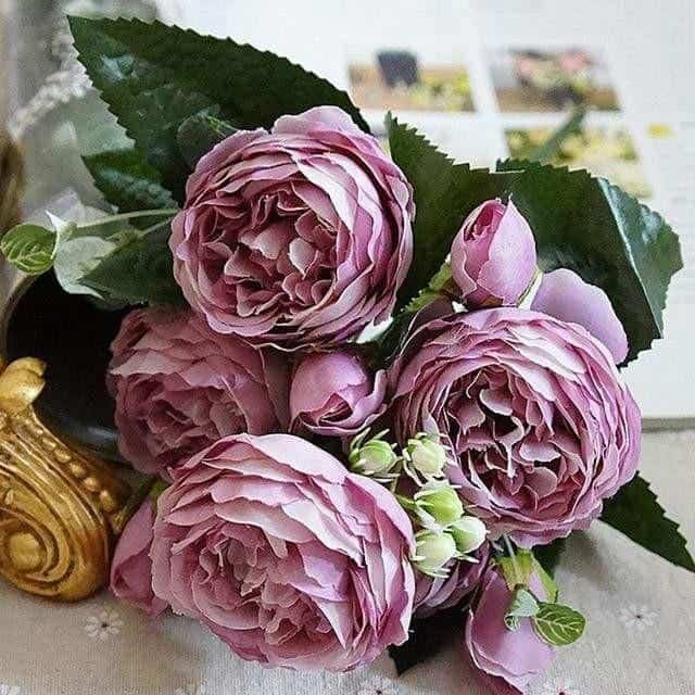 Rose Poems by Marie Davidsson Artificial Flowers Light Purple