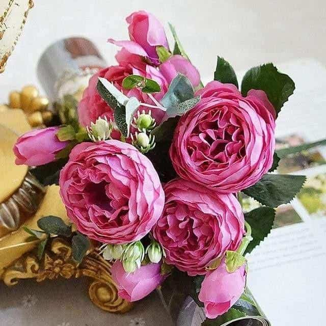 Rose Poems by Marie Davidsson Artificial Flowers Light Pink