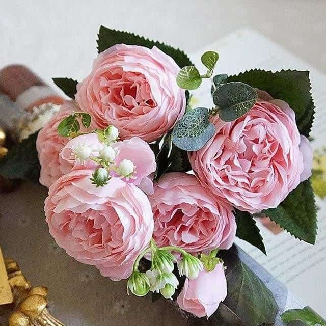 Rose Poems by Marie Davidsson Artificial Flowers Light Rose