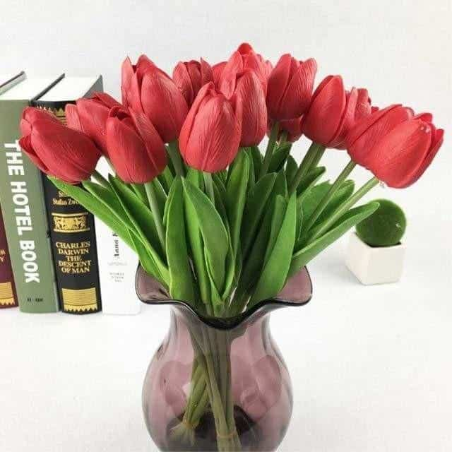 Fantasy by Hannes Malmström Artificial Flowers Red / Large - 31pcs