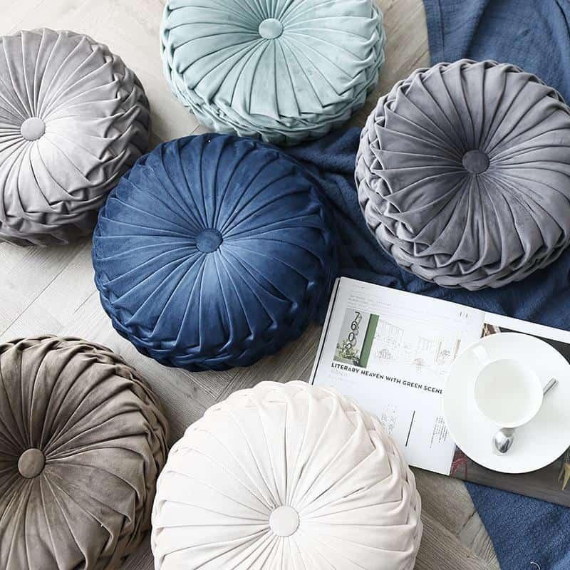 Monroe Peace | Round Velvet Round Throw Pillow | Celiné