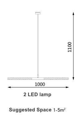 Voyage Aviation Pendant Light unique and elegant Pendant lighting 2 LED Lamp / Cold White LED 1.5w