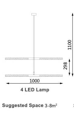 Voyage Aviation Pendant Light unique and elegant Pendant lighting 4 LED Lamp / Cold White LED 1.5w