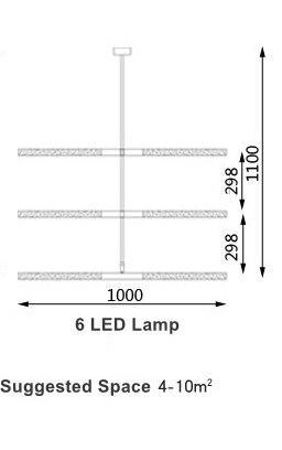 Voyage Aviation Pendant Light unique and elegant Pendant lighting 6 LED Lamp / Cold White LED 1.5w