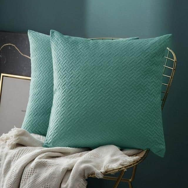 Luxe by Celiné / Pillowcase Pillow Teal Green