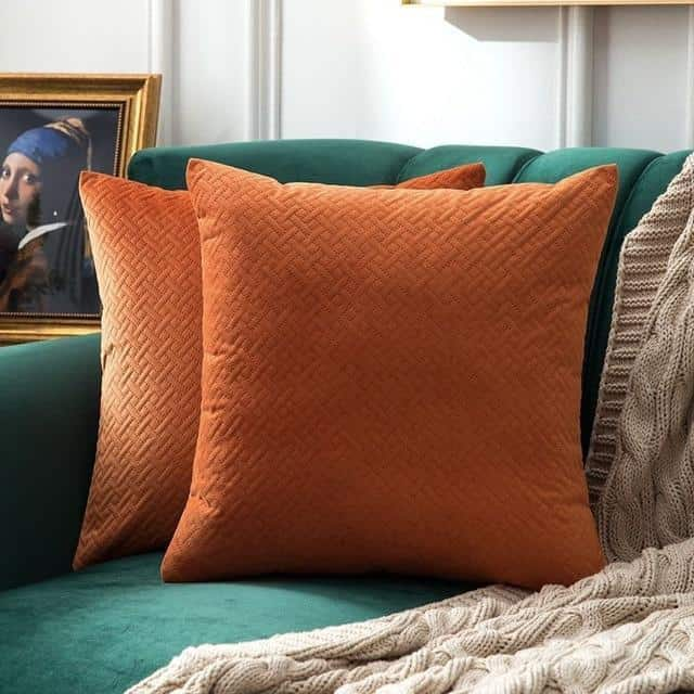 Luxe by Celiné / Pillowcase Pillow Orange