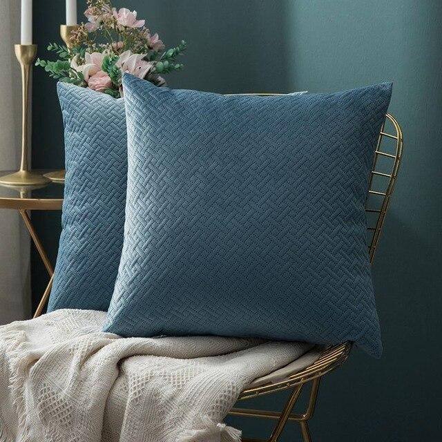 Luxe by Celiné / Pillowcase Pillow Light Blue