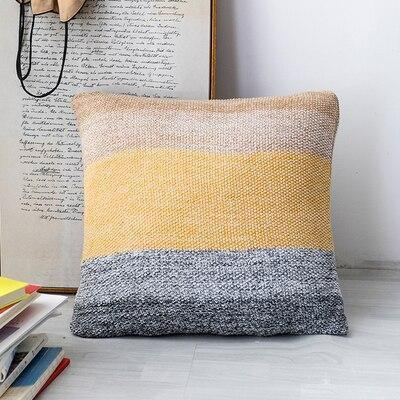 Big Blue Sea Pillowcase | Rose And Blue | Embroidery Pillow Blue-Yellow / 45 x 45 cm
