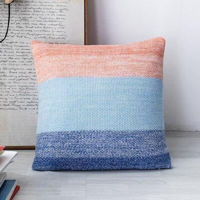 Big Blue Sea Pillowcase | Rose And Blue | Embroidery Pillow Blue-Rose / 45 x 45 cm