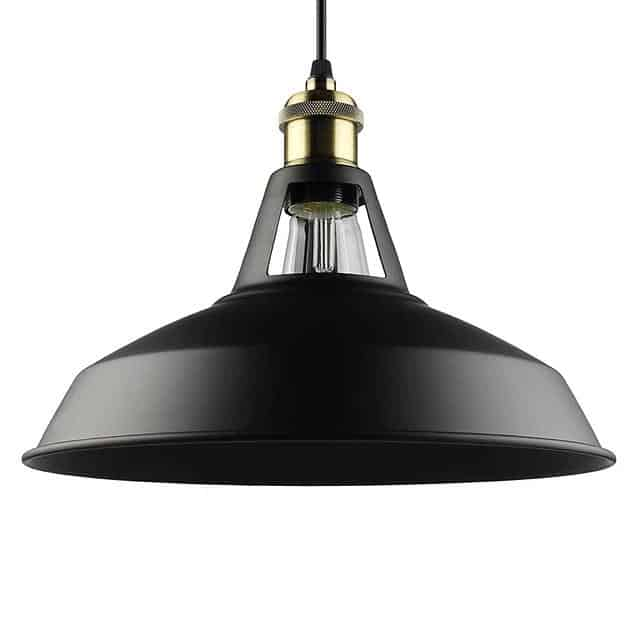 Retro Lunar Pendant Light Pendant lighting Black / Large