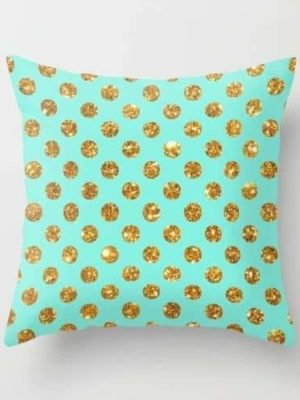 Nua Polka | Gold Polka Dots | Celiné Cushion