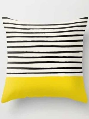Exploration Black Stripes | Celiné Cushion