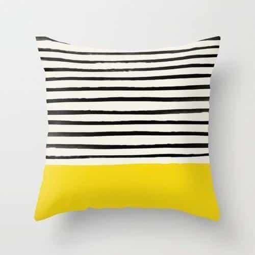 Exploration Black Stripes   Celiné Cushion Pillow 24x24 inch / No