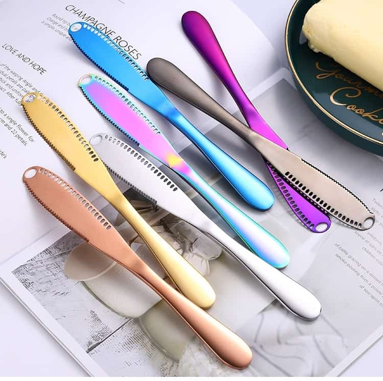 Stainless Steel Butter Knife Cheese Dessert Jam Spreaders Cream Knifes Utensil Cutlery Dessert Tools for Toast -