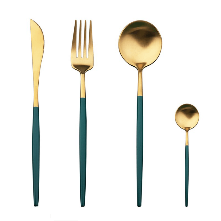 Gold With Emerald Green Handle