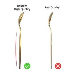 flatware - Gold Flatware White Handle by Rosseta | Premium Set of 4